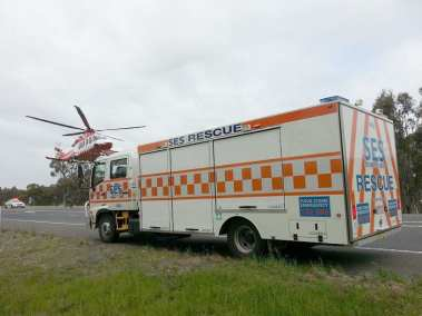 SES RESCUE truck