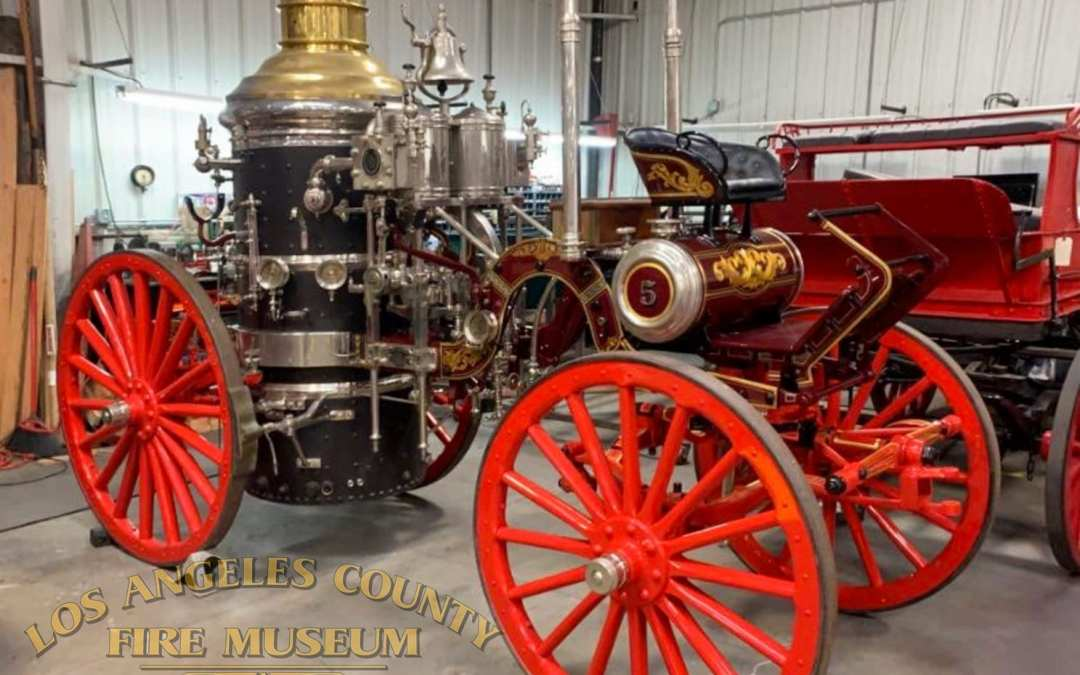 1903 American Steam Engine as it is almost complete from a long restoration. Lots of gold leaf embellishments.