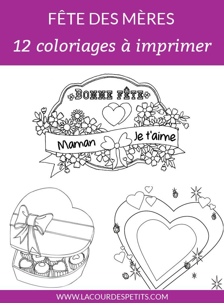 12 Coloriages Pour La Fete Des Meres Avec Un Cadeau La Cour