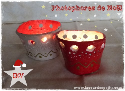 DIY Photophore De Nol En Pte Durcissante La Cour Des Petits
