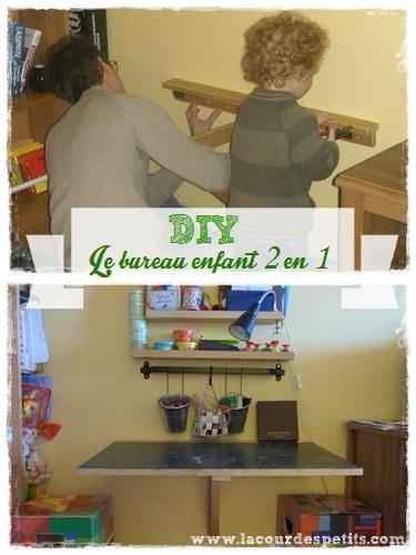 DIY Le Bureau Enfant Gain De Place 2 En 1 La Cour Des