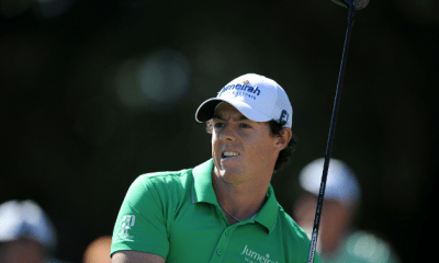 Sep 23, 2012; Atlanta, GA, USA; Rory McIlroy (IRL) hits from the 9th tee during the final round of the TOUR Championship at East Lake Golf Club. Mandatory Credit: Kevin Liles-US PRESSWIRE
