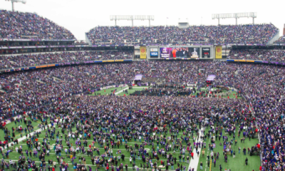 Feb 5, 2013; Baltimore, MD, USA; A general view as fans crowd M&T Bank Stadium during the Baltimore Ravens victory parade and celebration for Super Bowl XLVII. Mandatory Credit: Maxwell Kruger-USA TODAY Sports