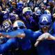 Feb 13, 2013; Durham, NC, USA; Duke Blue Devils fans get pumped up before their game against the North Carolina Tar Heels at Cameron Indoor Stadium. Mandatory Credit: Mark Dolejs-USA TODAY Sports