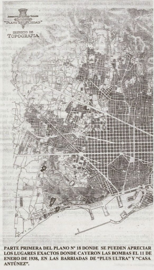 plano 18 bombardeo barcelona
