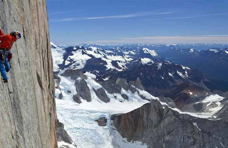 David Lama am Cerro Torre in Patagonien