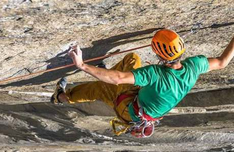 Jorg Verhoeven klettert Dihedral Wall im Yosemite Valley