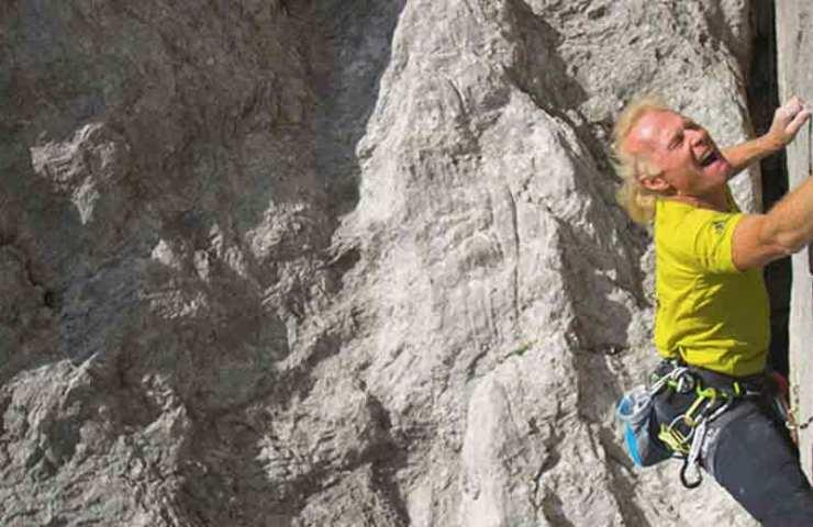 Climbing legend Beat Kammerlander commits combat zone (8c) in Rätikon