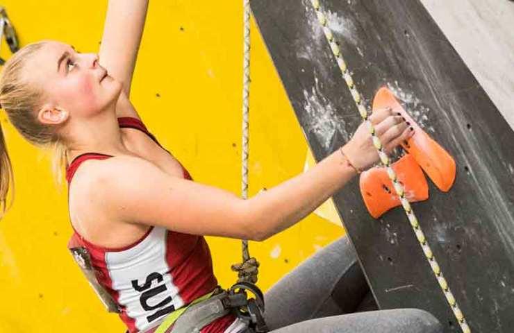 Alina Ring gewinnt den Schweizermeistertitel im Lead