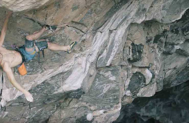 Film with Adam Ondra on the celebration of the world's first 9c