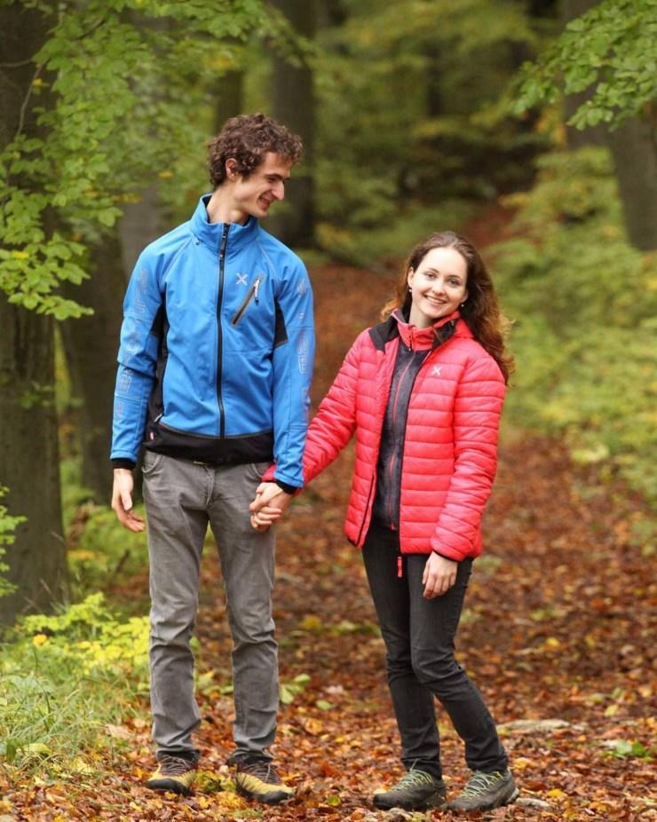 Iva Vejmolova und Adam Ondra für einmal nicht am Klettern