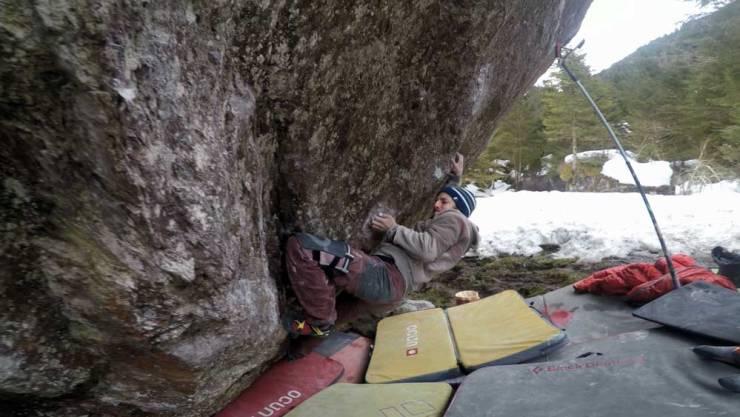 David von Allmen in Boulder An unexpected journey in Murg Valley