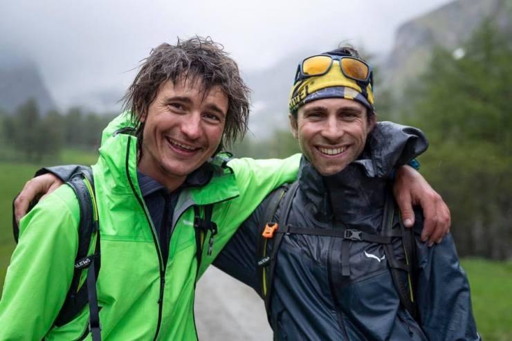 Müde und zufrieden - Simon Gietl und Vittorio Messini nach der erfolgreichen Speedbegehung
