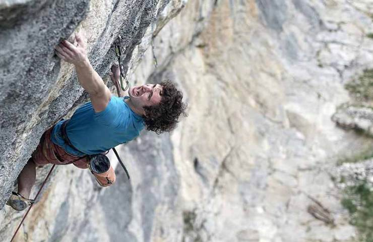 Adam Ondra climbs 8c onsight while filming at Gimmelwald