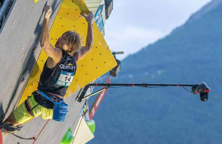 Alexander Megos wins gold at the Lead World Cup in Briançon