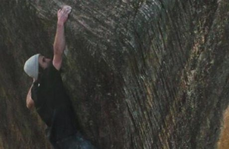 Daniel Woods klettert The Finnish Line (8c) in den Rocklands