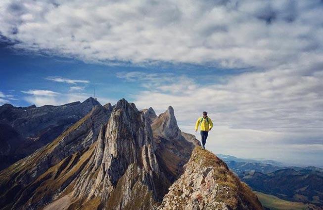 Trailrunning im Alpstein - Michi Wohlleben - Fotograf Bernard Rohr