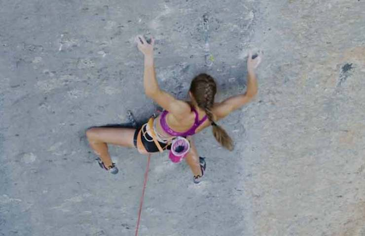 Movie about Margo Hayes's Rambla (9a +)