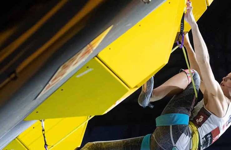 Jessica Pilz ist Weltmeisterin in der Disziplin Lead