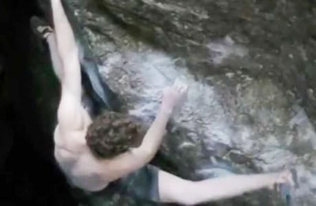 Giuliano Cameroni klettert Ill Trill und eröffnete neue Linien im Magic Wood