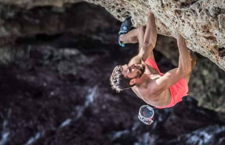 Siblings Jernej and Julija Kruder give full throttle at Deep Water Soloing in Mallorca
