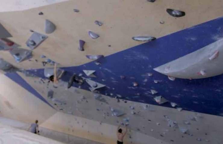 Ist das die längste überhängende Indoor-Boulderwand?