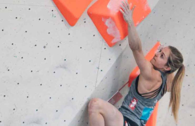 Jessica Pilz is state champion in lead, bouldering and combined scoring
