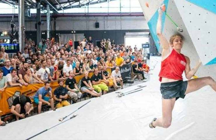 Lucia Dörffel and Max Prinz win the German championship in bouldering