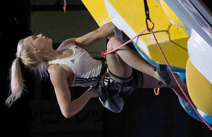 Janja Garnbret and Tomoa Narasaki win the combined format of the Climbing World Championship 2019