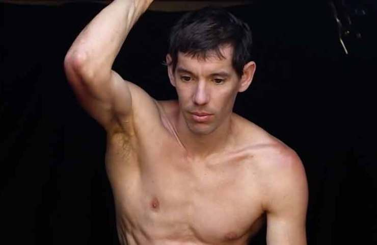 Alex Honnold at the nude photo shoot