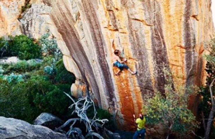 Fred Nicole and Giuliano Cameroni celebrate South Africa's toughest climbing route: Legacy (9a)