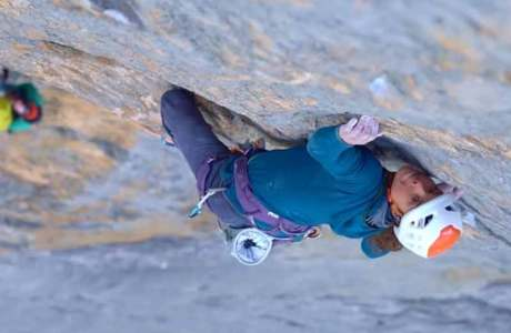 Roger Schäli, Nina Caprez and Sean Villanueva open the toughest climbing route in the Eiger North Face: Merci la Vie
