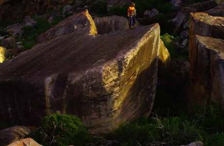 Shawn Raboutou gets the third ascent of the 8c-Boulder Livin 'Large in South Africa