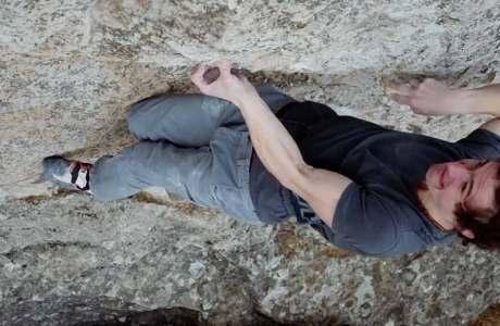 Finally rock under your fingers again: Adam Ondra commits highball boulder Milnik
