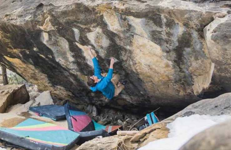 Bouldered again 8c: Drew Ruana with the first ascent of Pegasus