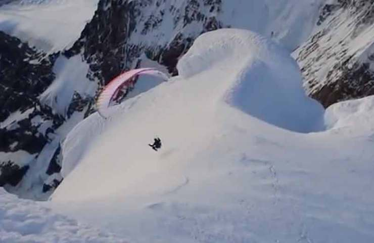 Video: Fabi Buhl flies from Cerro Torre in Patagonia with a paraglider