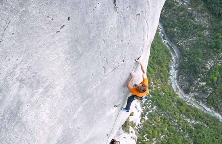Seb Bouin on the climbing history and probably the most exposed route of the Verdon Gorge