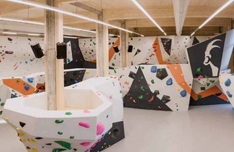 Steinblock bouldering hall in Dornbirn opened