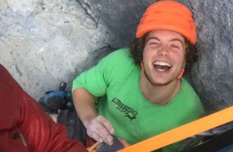 Dimitri Vogt klettert schwere Wendenroute Zahir rotpunkt
