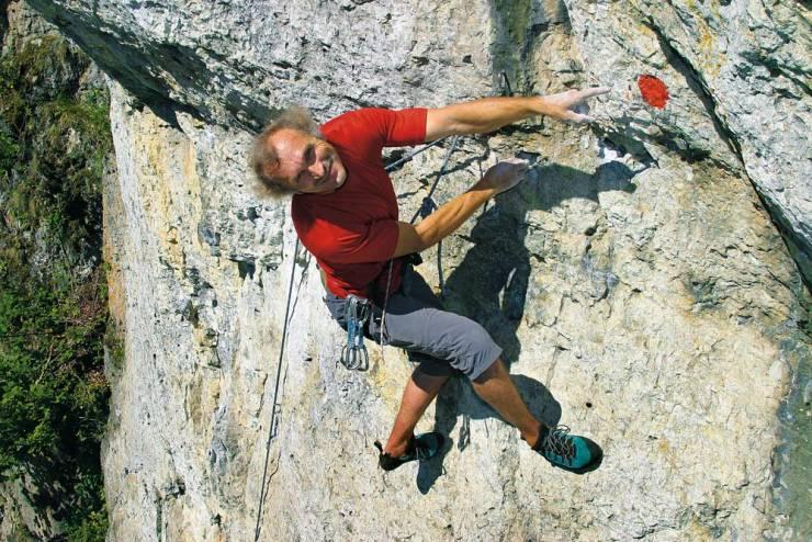 Kurt Albert - inventor of red point climbing. (Image: Martin Schepers)