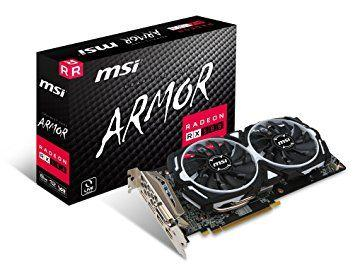 MSI AMD RX 580 Armour OC 8 Go de mémoire 256 bits GDDR5 DVI:DP:HDMI carte graphique PCI Express 3