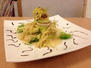 Tofu con zucchine,finocchi e limone