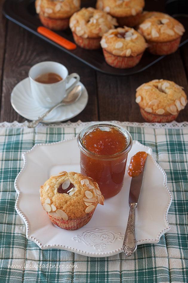 muffins albicocche e mandorle