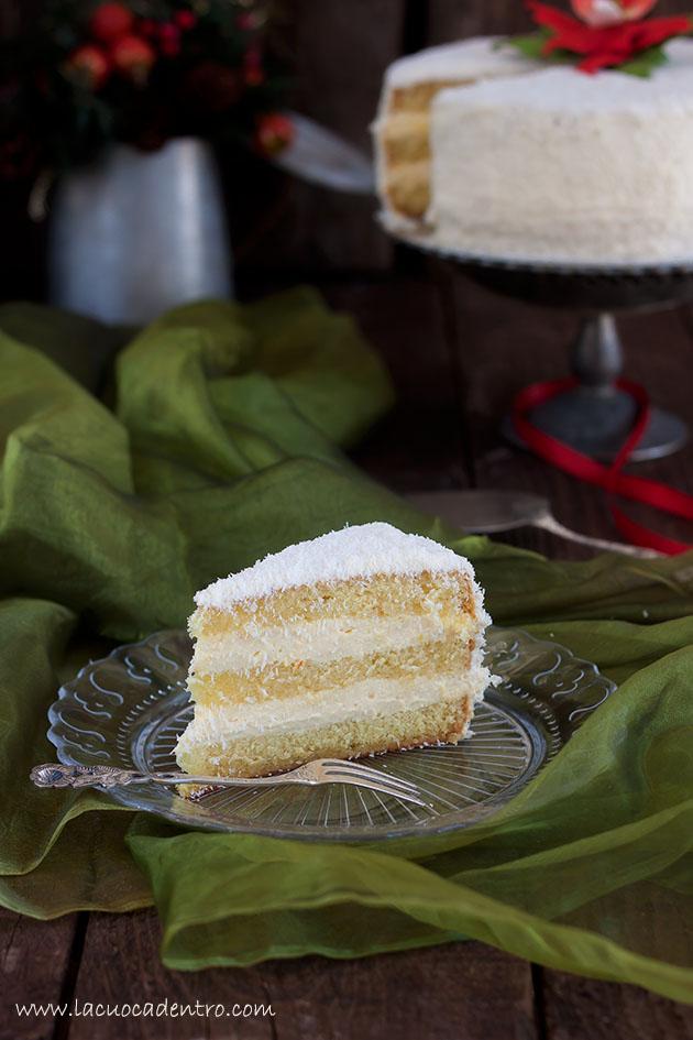 fetta torta cocco e arancia