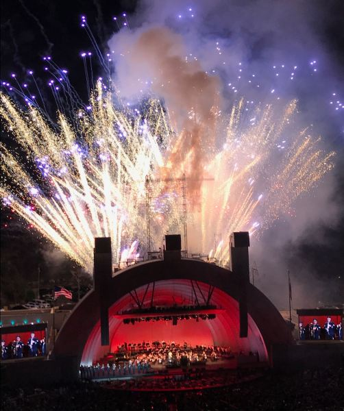 Fireworks at the Hollywood Bowl in 2018