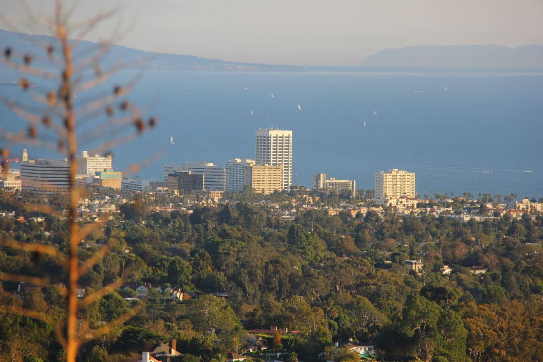 View of Santa Monica from Will Rogers State Park