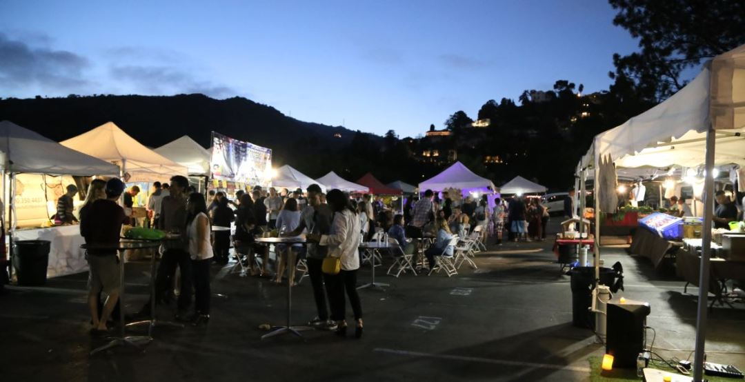 Yamashiro Farmers Market tables