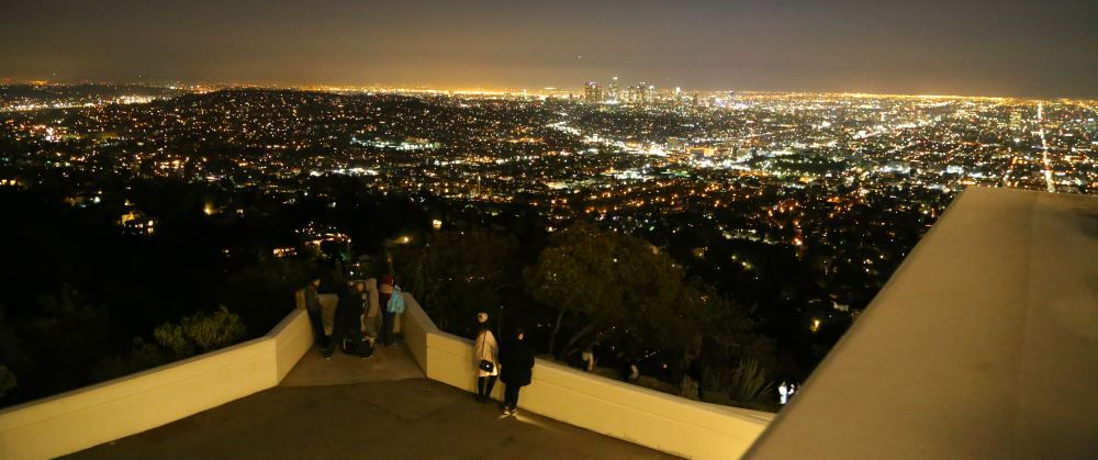 Griffith Park Observatory view from roof