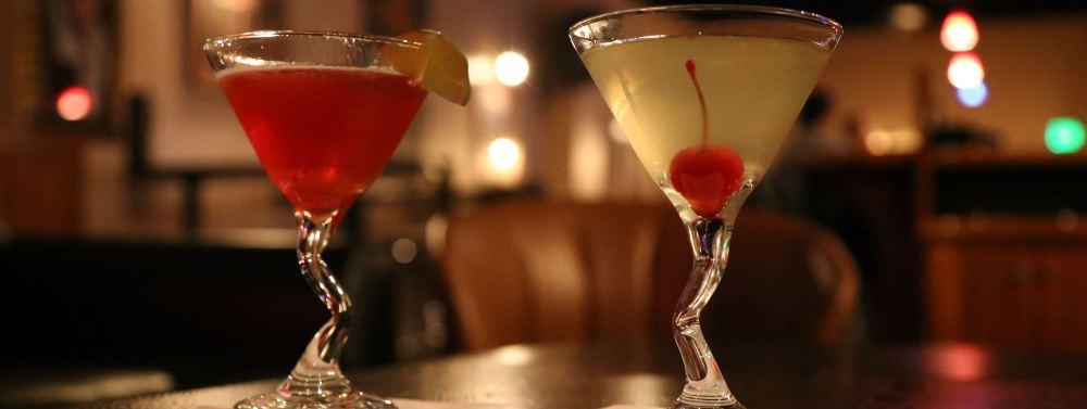 Martini glasses at singles event