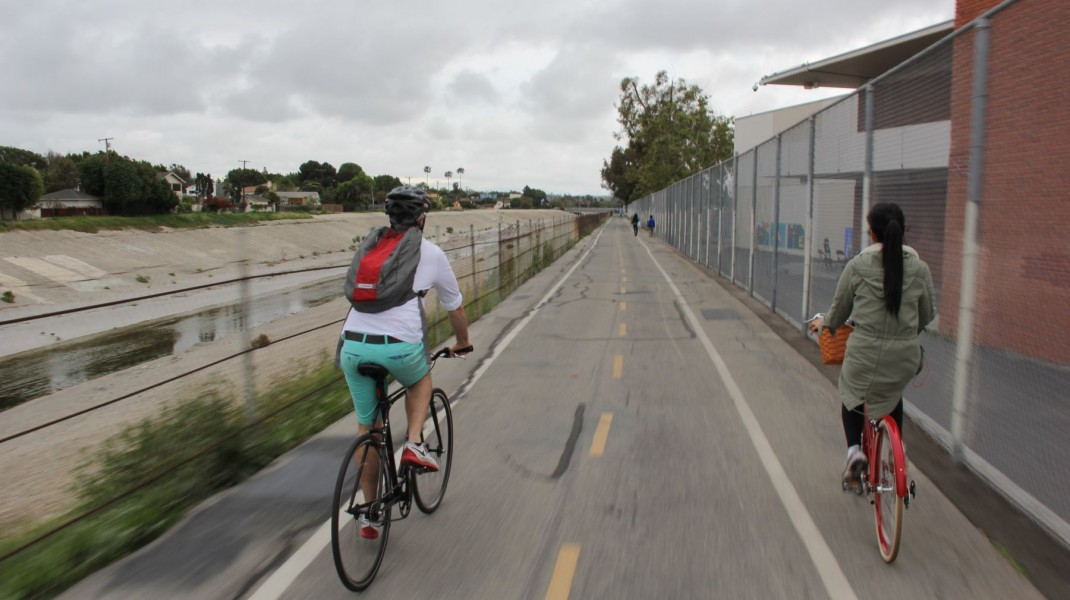 Ballona Creek bike path LA